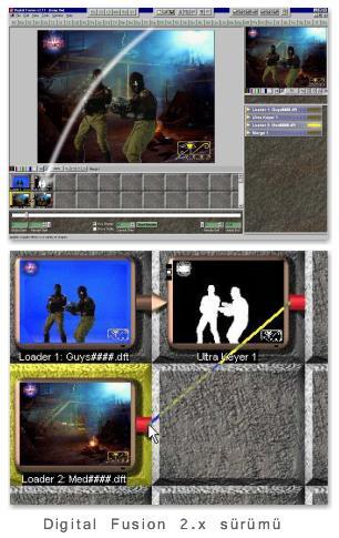 Digital Fusion 2.x sürümü arayüzü